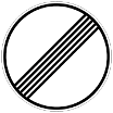"The ""derestriction"" sign lifts all restrictions (no passing, speed limits) - except blanket ones (i.e., 130 km/h for Austria and none for Germany)"